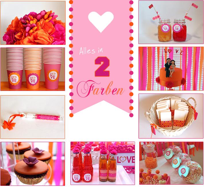 DIY-Candybar: Sweet Table in PRange/Pink von einhochzeitsblog.com