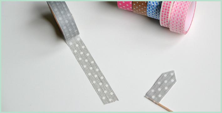 einhochzeitsblog.com: DIY aus Masking-Tape - Caketopper