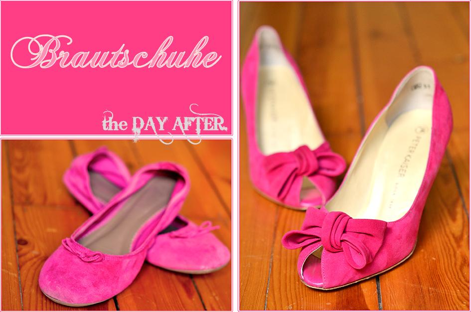 Brautschuhe in Pink