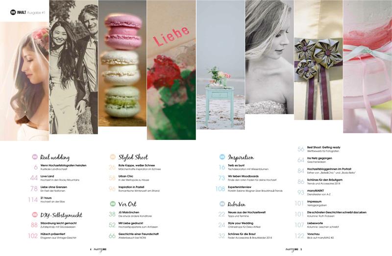 einhochzeitsblog presents: MarryMAG Issue 1