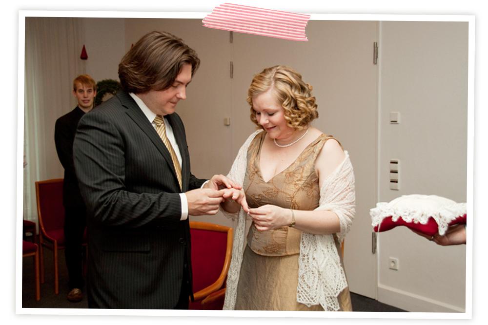 Stricken für die Braut: brautstola und Mug Cozy