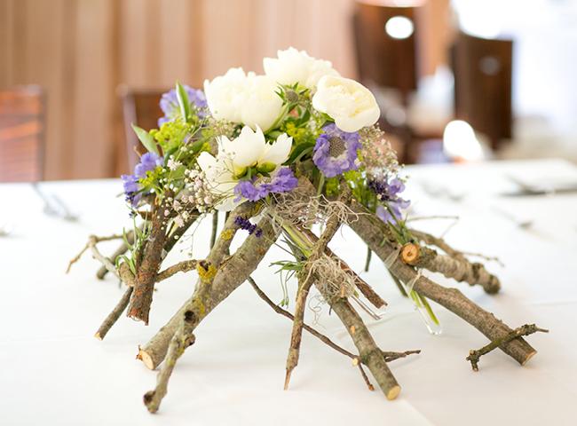 Naturliche Blumendeko