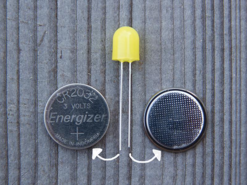 LED mit Kopfzelle zum Leuchten brinden