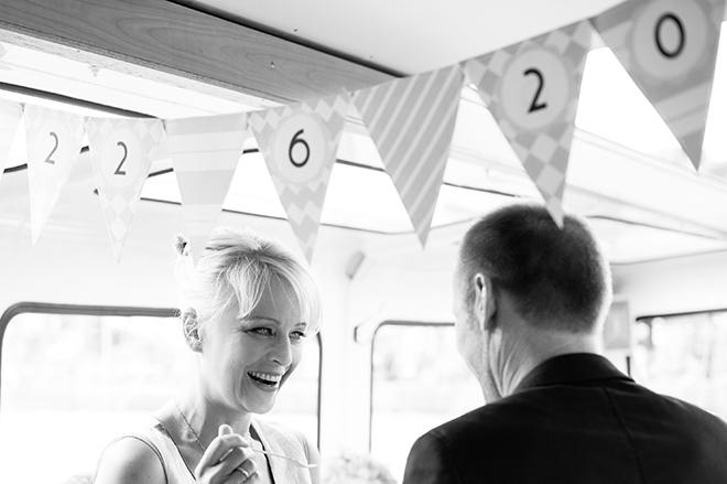 Papiergirlande mit Hochzeitsdatum