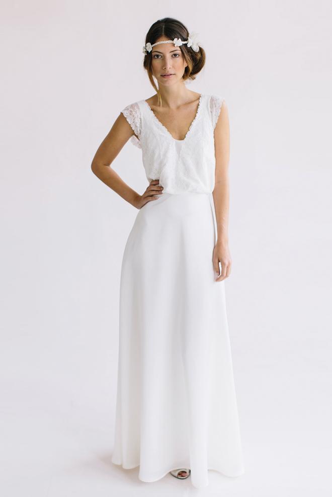 amelie ist ein romantisches brautkleid im empire stil ein elfenhafter ...