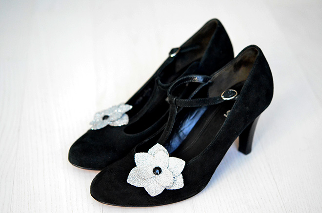 DIY Schuhclips flower 3
