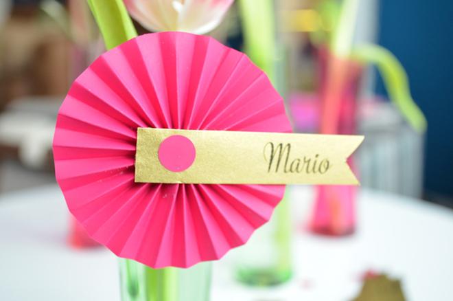 Hochzeit Namenskarte Pinwheel 4