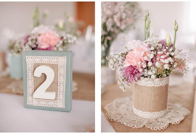 Hochzeit vintage deko top tischdeko vintage mintgra n for Dekoartikel altrosa