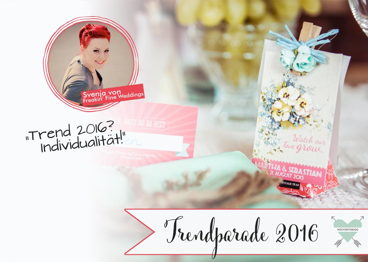 Hochzeitstrend 2016