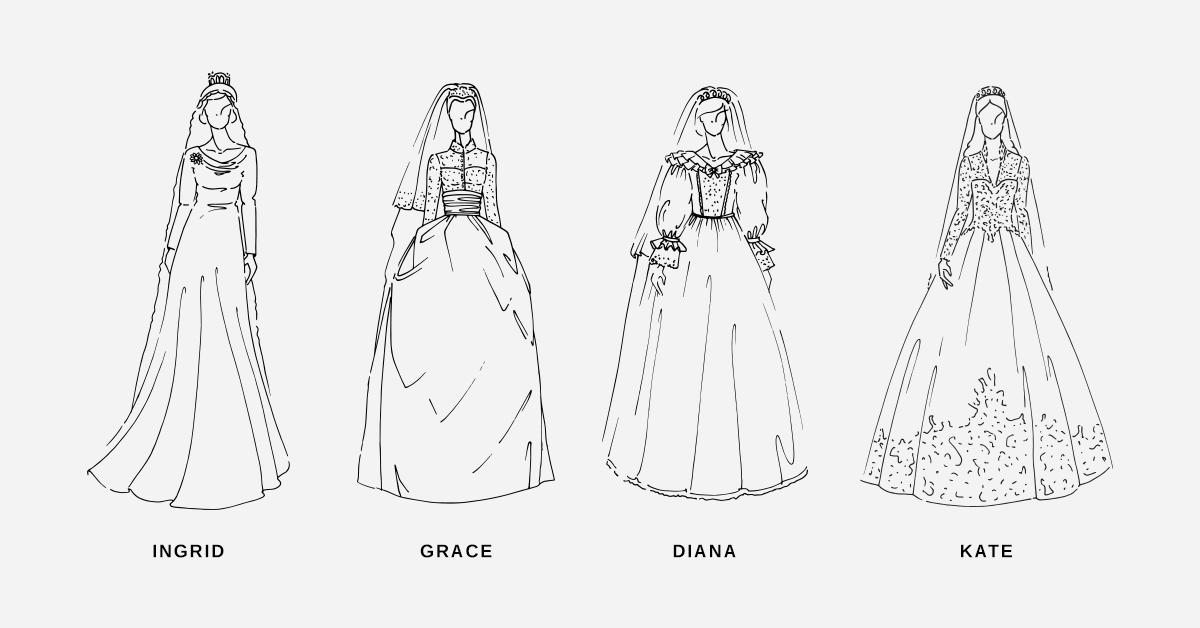 Royale hochzeitskleider der letzten 100 jahre - Kleider zeichnen ...