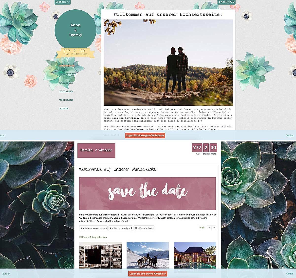 Hochzeitshomepage_Wunschliste
