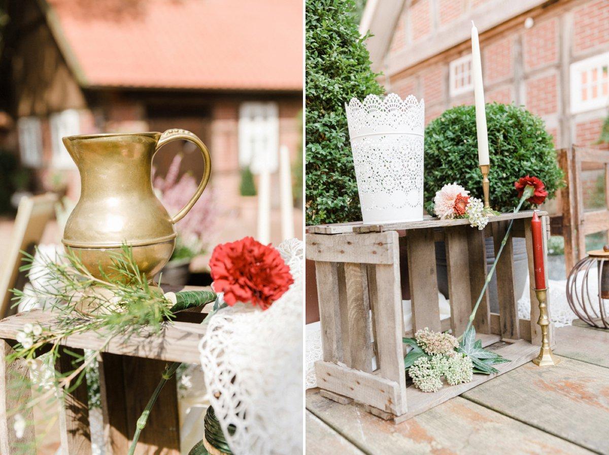 DIY Hochzeit im Garten eines alten Bauernhauses