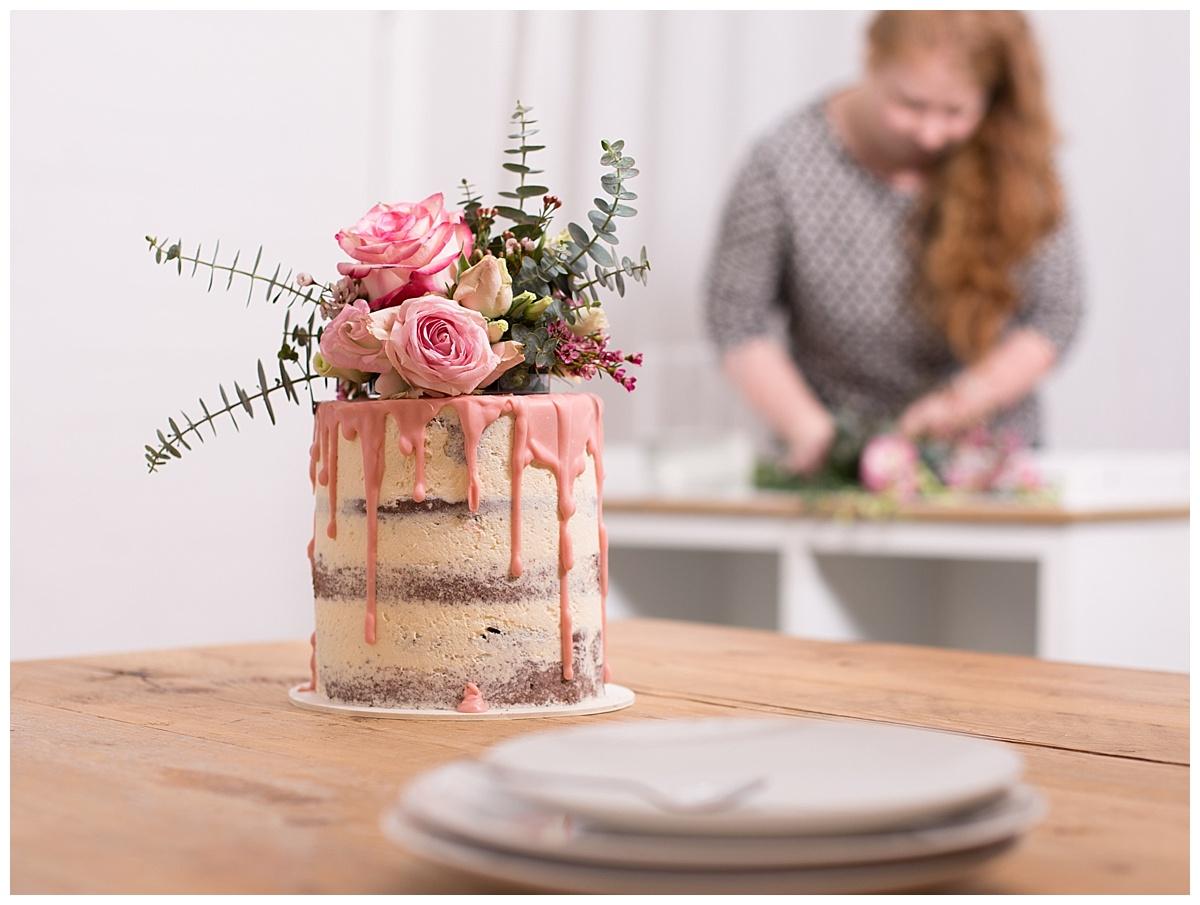 Hochzeitstorte Selber Backen Naked Cake Mit Eukalyptus Und