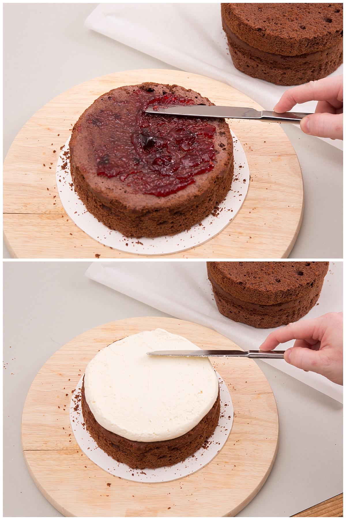hochzeitstorte selber backen naked cake mit eukalyptus und blumen. Black Bedroom Furniture Sets. Home Design Ideas