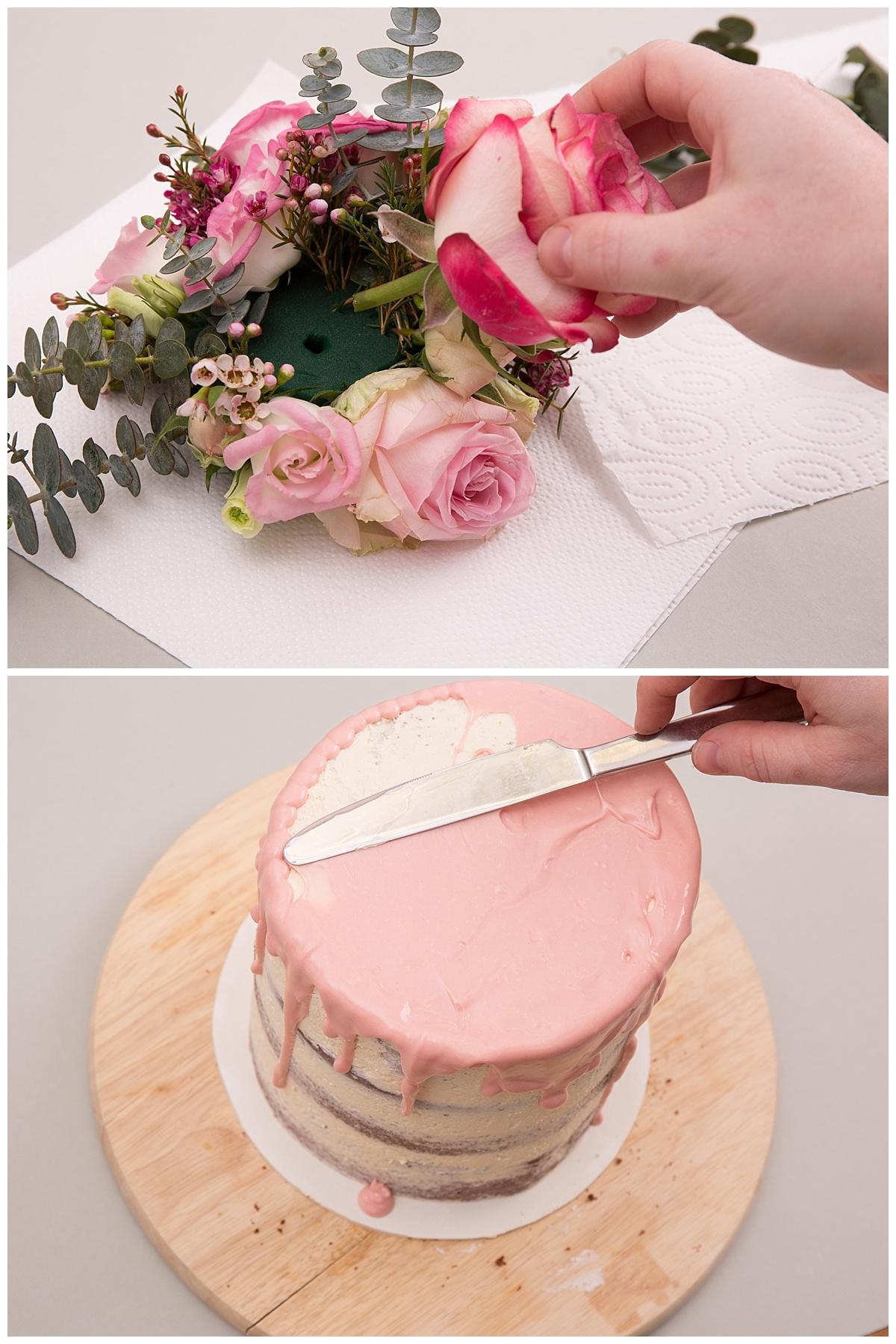 Hochzeitstorte Selber Backen Naked Cake Mit Eukalyptus Und Blumen