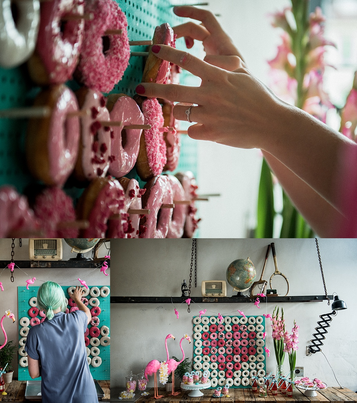 diy donut wall selber machen hochzeitsblog marrymag der hochzeitsblog. Black Bedroom Furniture Sets. Home Design Ideas