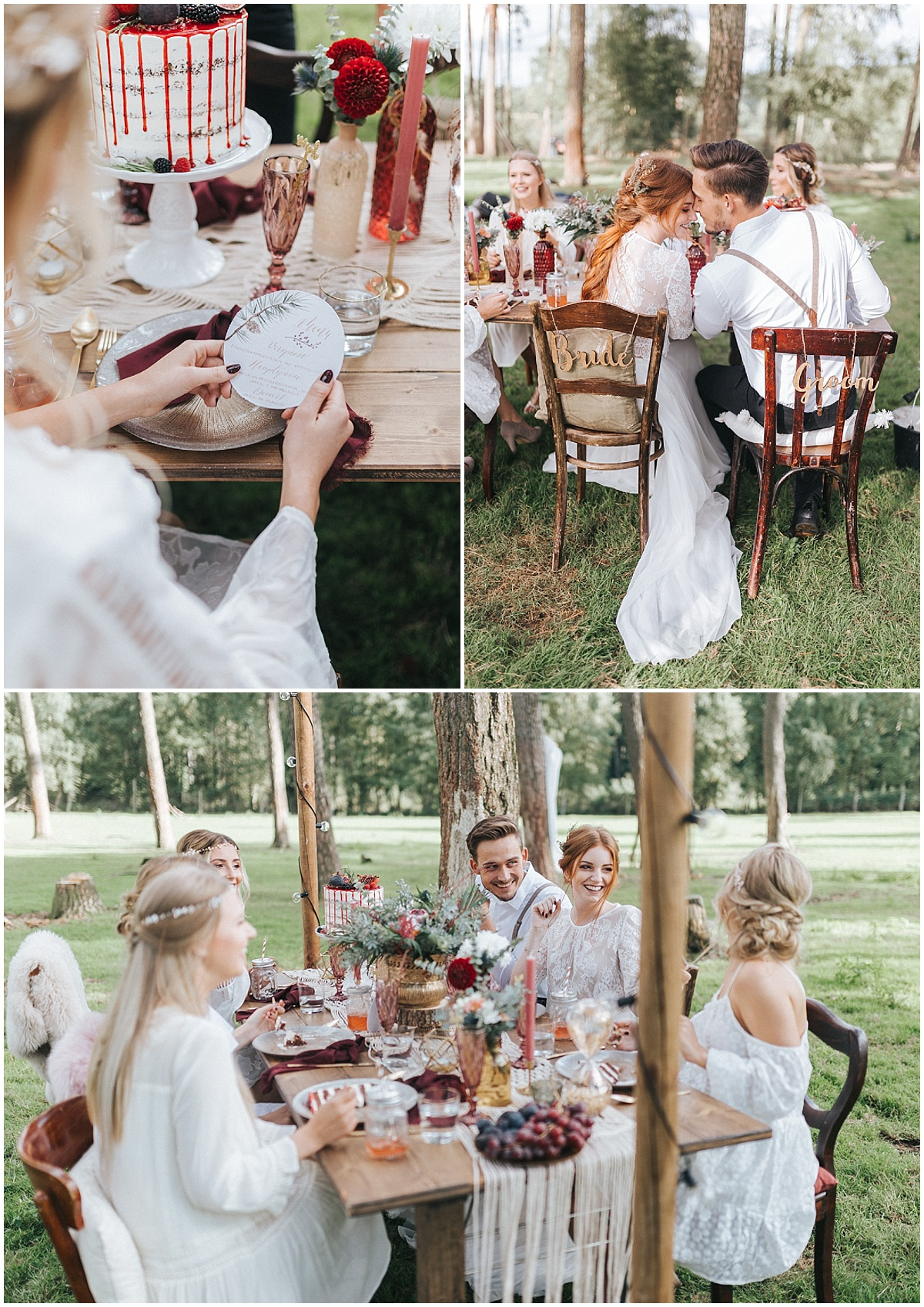 Marrymag Boho Hochzeit Im Wald Outdoor Location