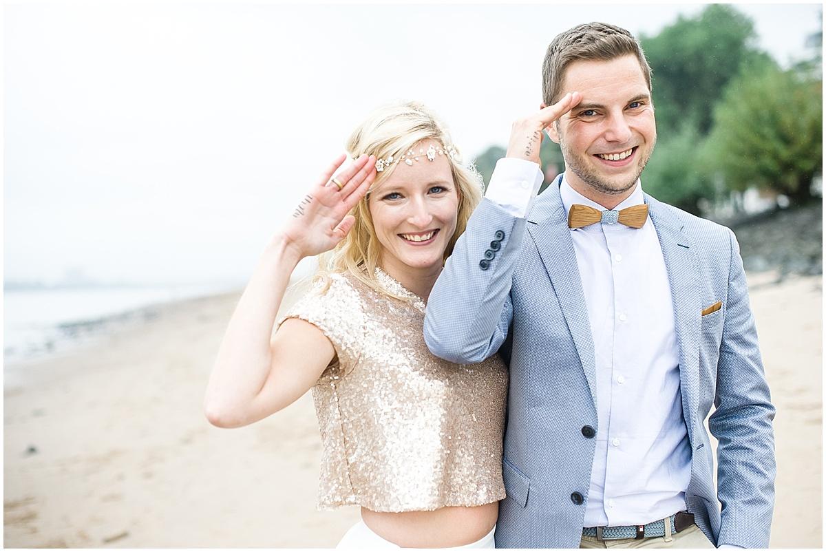 Hochzeit An Der Elbe Trauung Strandperle Hamburg