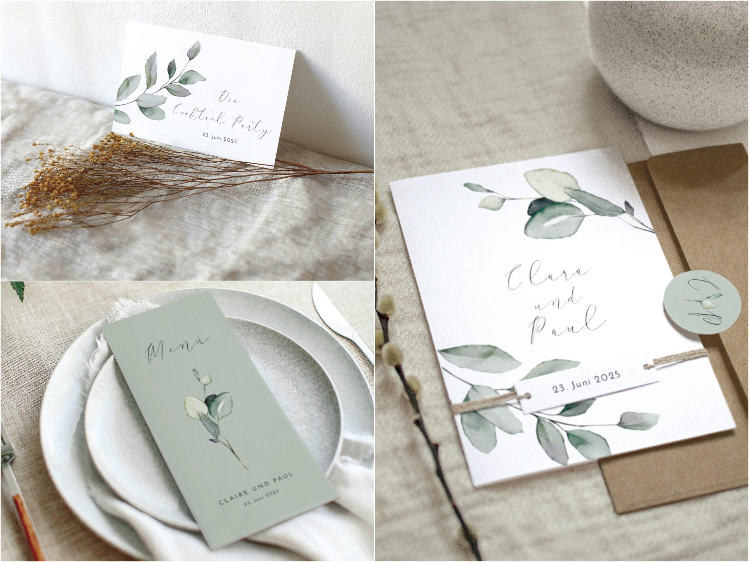 Schlicht-elegante Papeterie von Cottonbird